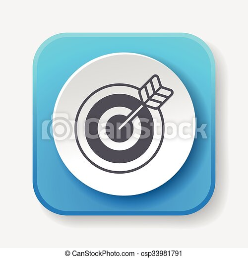 Archery icon - csp33981791