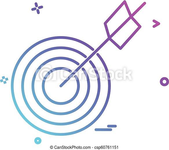 archery icon vector design - csp60761151
