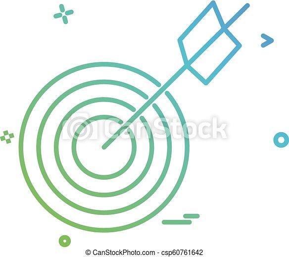 archery icon vector design - csp60761642