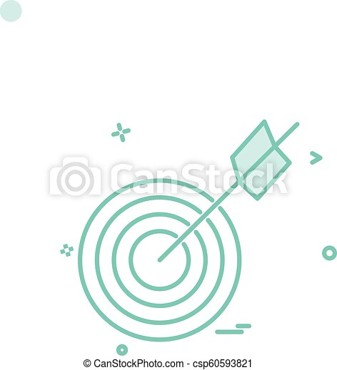 archery icon vector design - csp60593821
