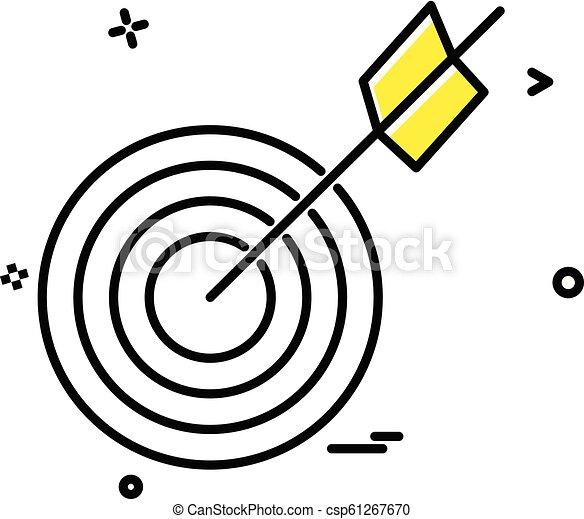 archery icon vector design - csp61267670
