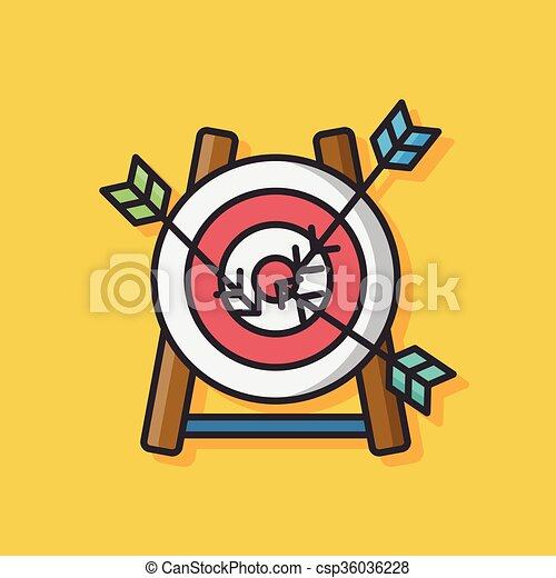 Archery target vector icon - csp36036228
