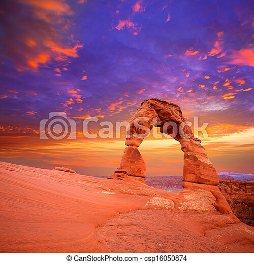 Arches National Park Delicate Arch in Utah USA - csp16050874