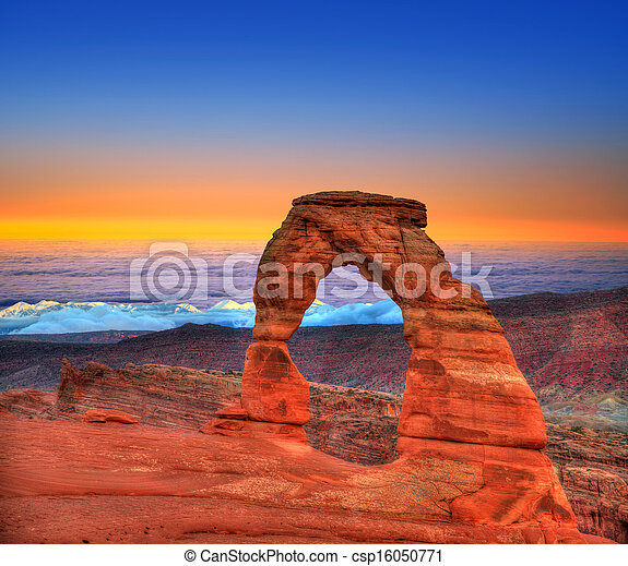 Arches National Park in Moab Utah USA - csp16050771