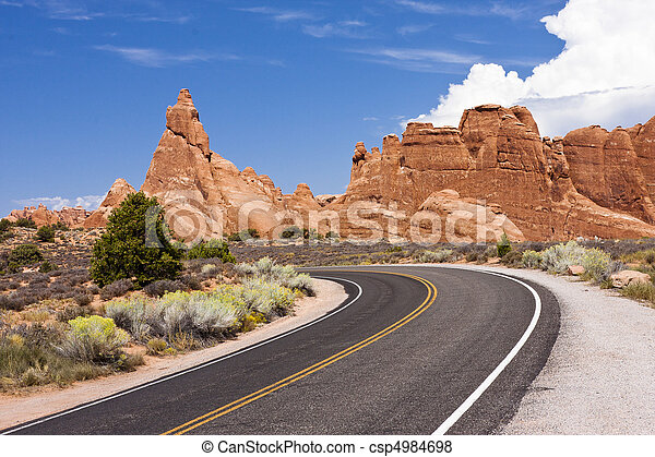 Arches National Park Road - csp4984698