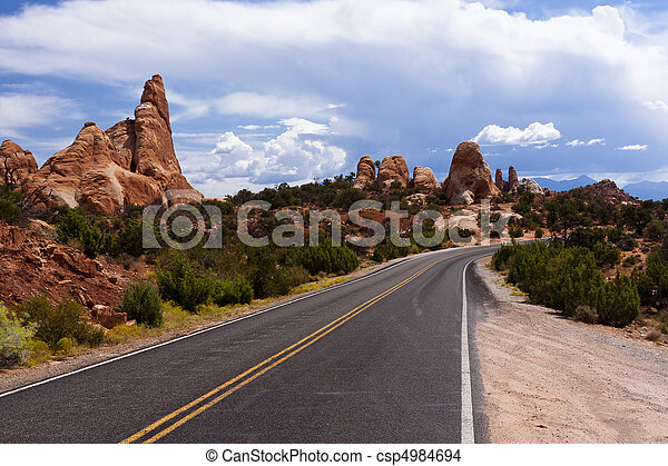 Arches National Park Road - csp4984694