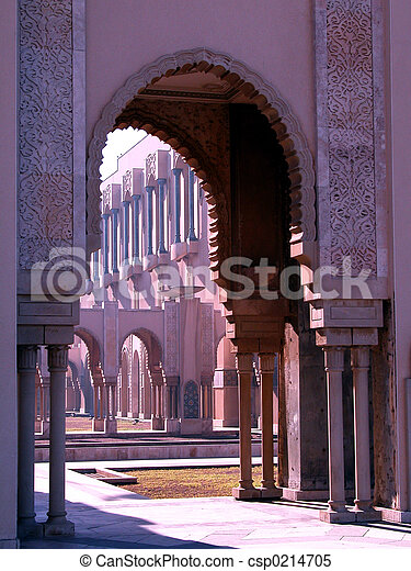 arches of the mosque - csp0214705