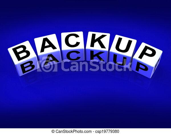 Archief Terugzetten Documenten Blokjes Overdracht Reservekopie