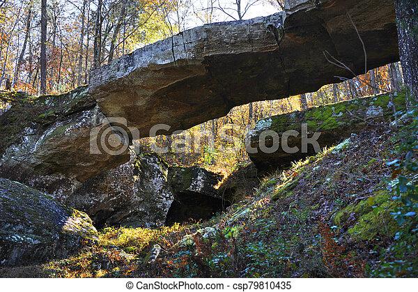 Arching Natural Bridge in Arkansas - csp79810435