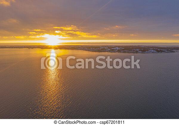 Archipelago in sunset in winter - csp67201811
