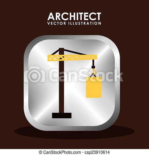 architect icon  - csp23910614