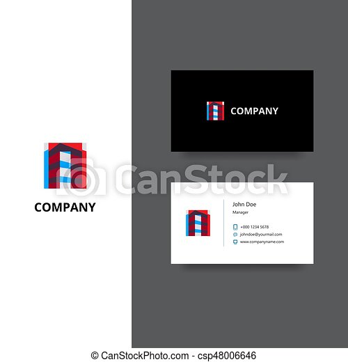Architect or building company logo and business card template architect or building company logo and business card template csp48006646 wajeb Images