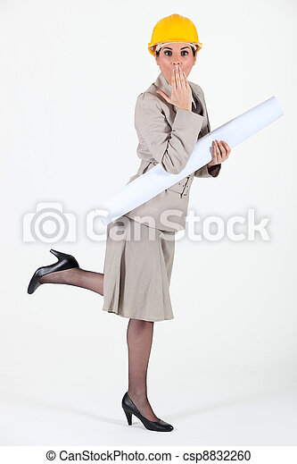 Architect realizing she has made a mistake - csp8832260