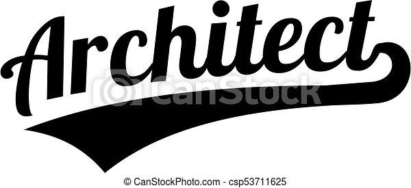 Architect retro word - csp53711625