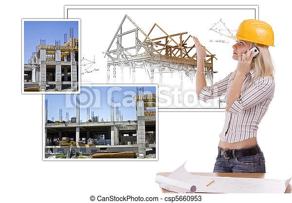 architecte, femme - csp5660953
