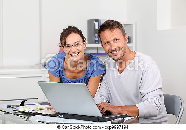 Architects working together in the office - csp9997194