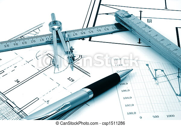 architectur plans of residential real estate - csp1511286