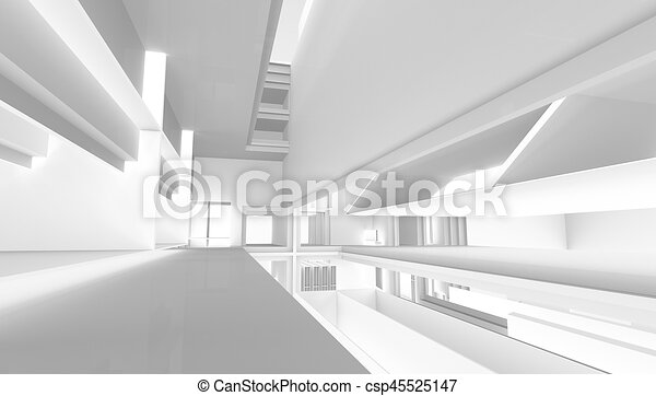 architectural abstract 3d rendering - csp45525147