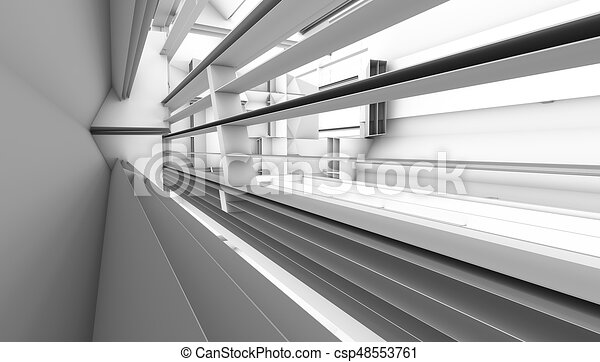 architectural abstract 3d rendering - csp48553761