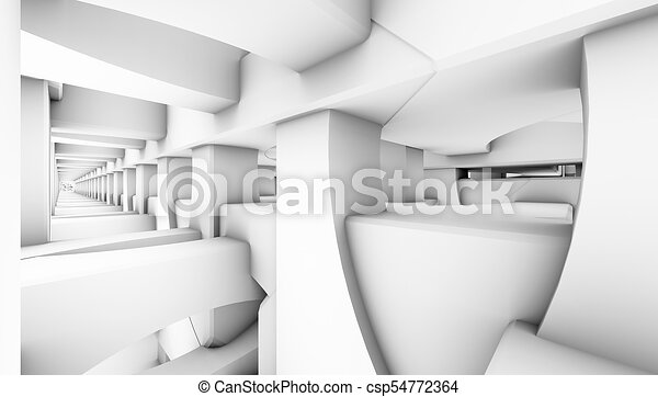 architectural abstract 3d rendering - csp54772364