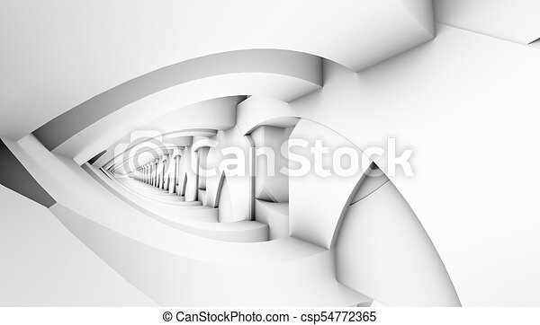 architectural abstract 3d rendering - csp54772365