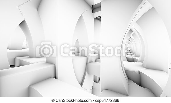 architectural abstract 3d rendering - csp54772366