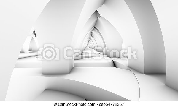 architectural abstract 3d rendering - csp54772367