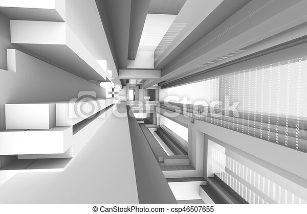 architectural abstract 3d rendering - csp46507655