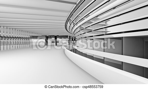 architectural abstract 3d rendering - csp48553759