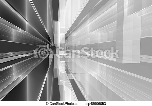 architectural abstract 3d rendering - csp48906053
