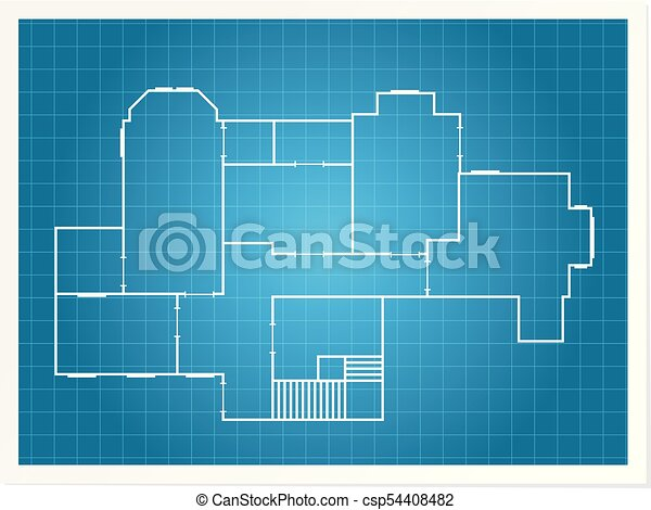 Architectural background blueprint plan of a layout of building architectural background blueprint plan of a layout of building csp54408482 malvernweather Images