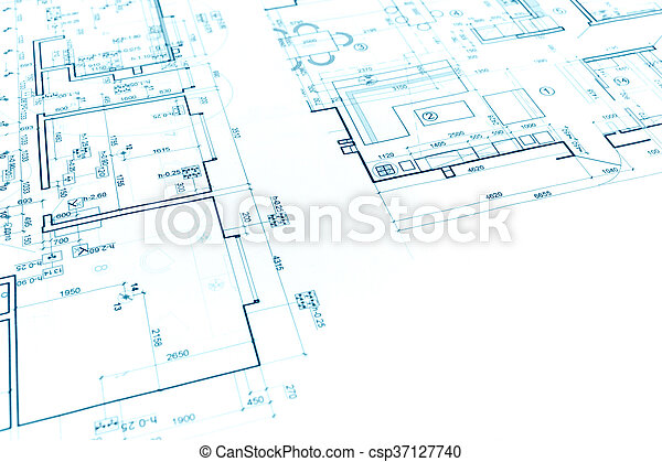 Architectural Background With Construction Plan And Technical Drawing    Csp37127740