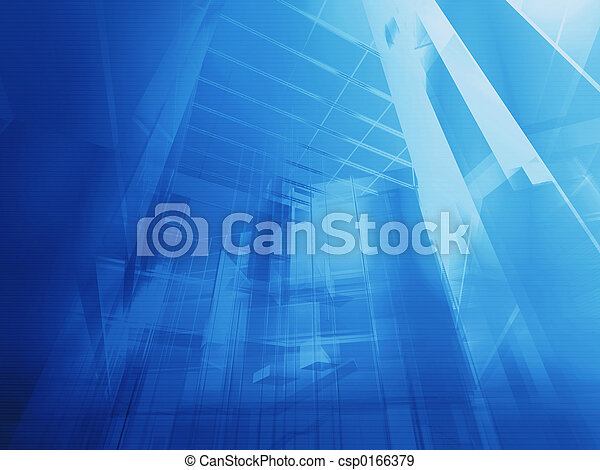 Architectural blue - csp0166379