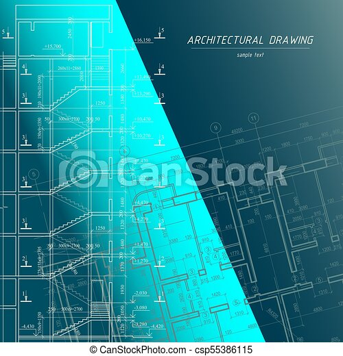 Architectural blueprint building background building vector architectural blueprint building background csp55386115 malvernweather Image collections