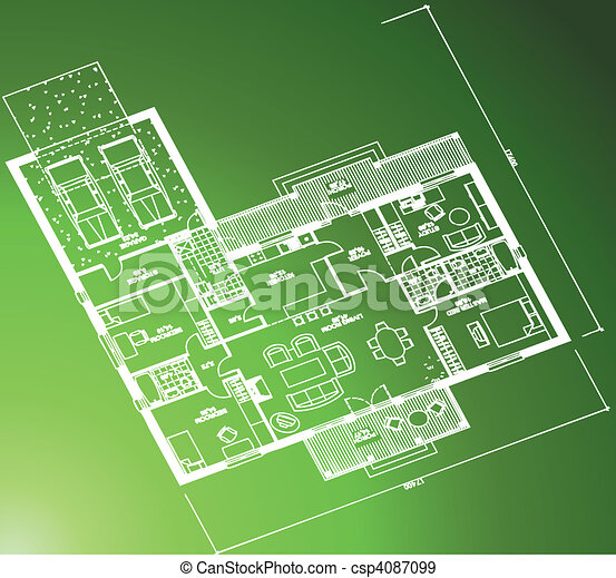 Architectural blueprint on green background architectural eps architectural blueprint on green background csp4087099 malvernweather Image collections
