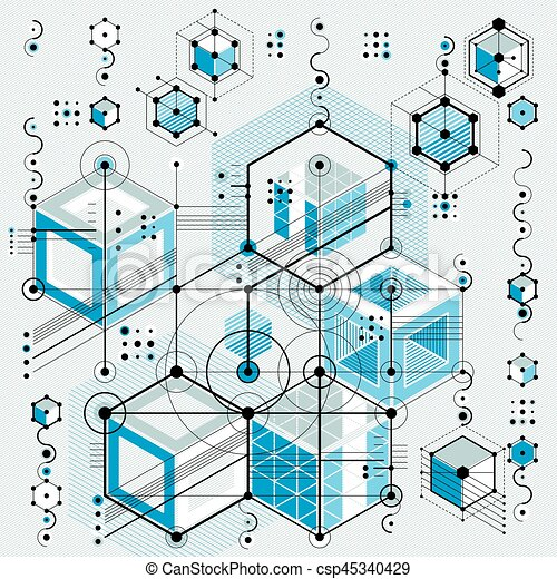 Architectural blueprint vector digital background with vector architectural blueprint vector digital background with different geometric design elements for use as website malvernweather Images