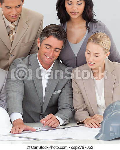 Architectural business team working in the office - csp2797052