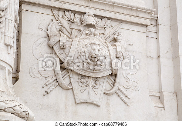 Architectural detail from the ornate exterior of Il Vittoriano - csp68779486