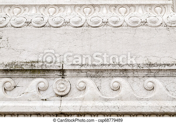 Architectural detail from the ornate exterior of Il Vittoriano - csp68779489