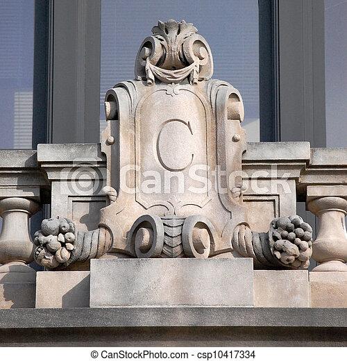 architectural detail letter C - csp10417334