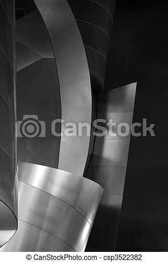 Architectural Details of  Beautiful Modern Building - csp3522382