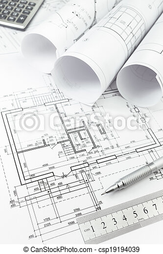 Architectural Plan And Tools Architectural Background With Floor