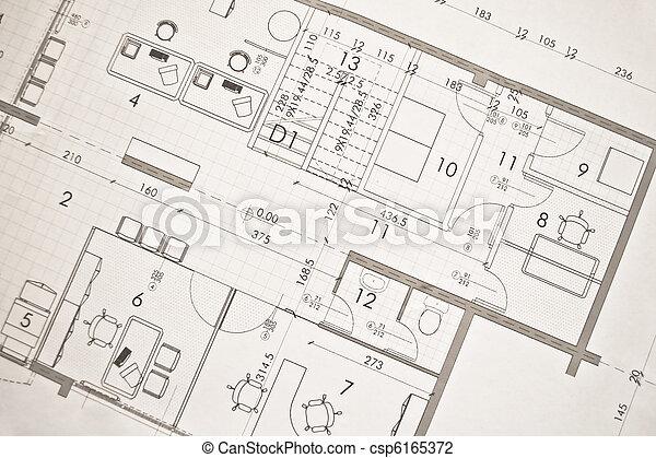architectural plan,technical projec - csp6165372