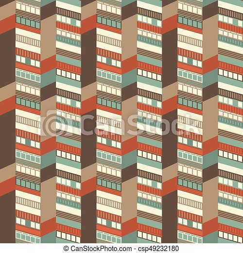 Architectural Seamless Pattern - csp49232180
