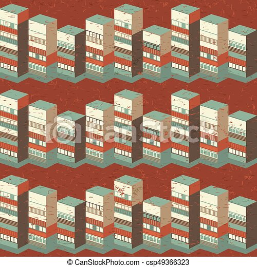 Architectural Seamless Pattern - csp49366323