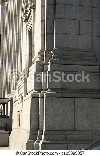 Architectural side of building - csp5893057