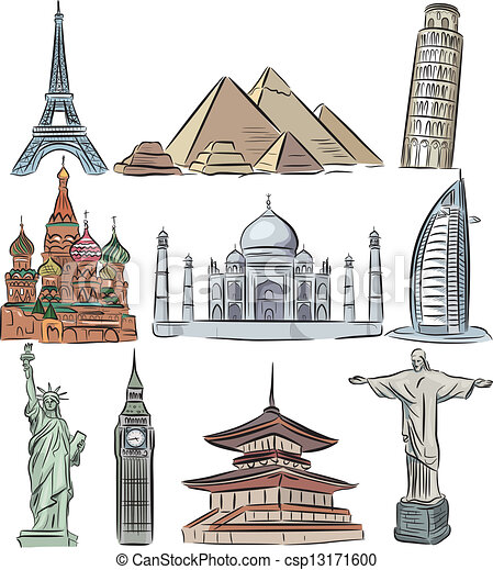 The works of art and architecture of the seven wonders of the world