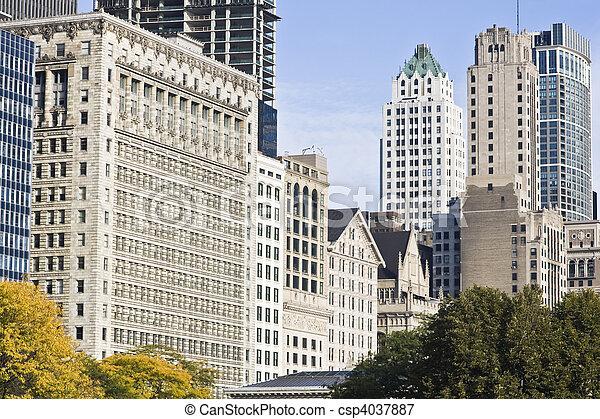 Architecture along Michigan Avenue - csp4037887