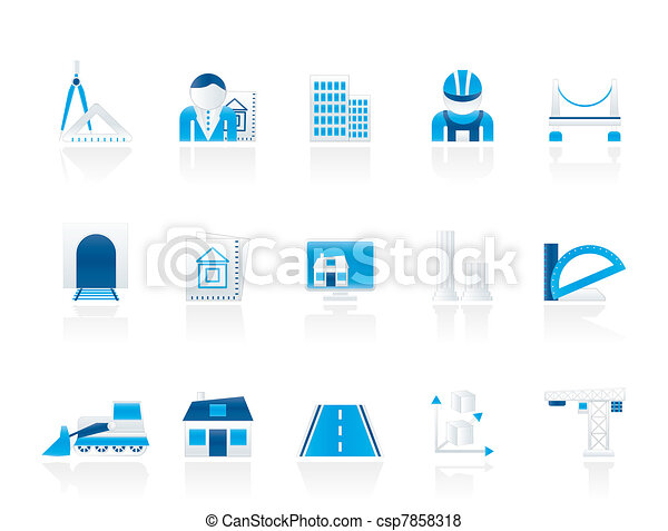 architecture and construction icons - csp7858318