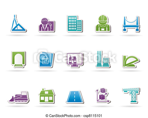 architecture and construction icons - csp8115101